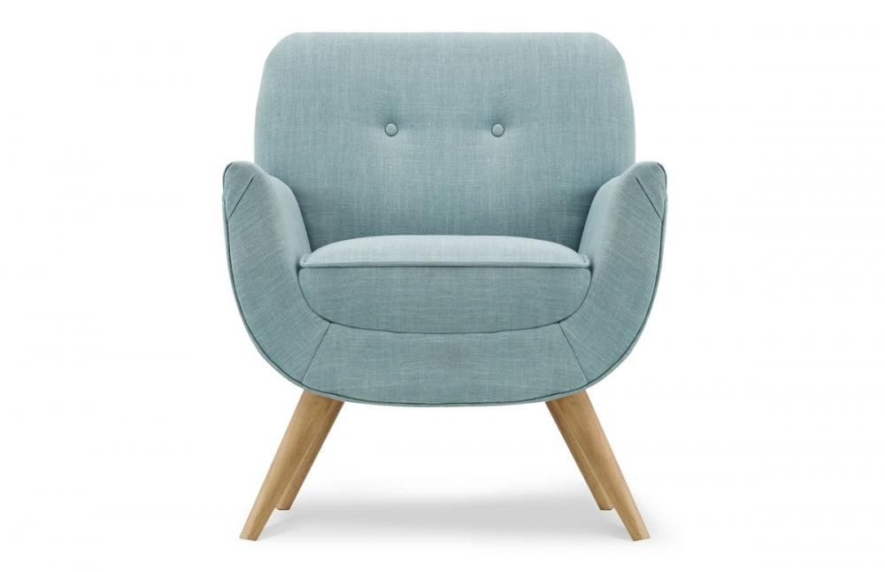 fauteuil vintage tissu bleu pastel pi ce vivre. Black Bedroom Furniture Sets. Home Design Ideas