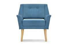Fauteuil design rétro bleu canard