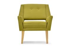 Fauteuil design rétro vert
