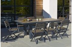 Ensemble table et 6 chaises pliantes