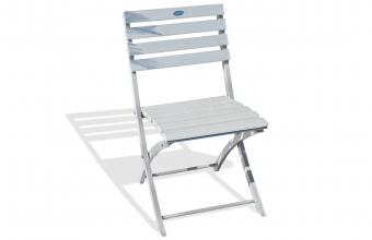 Chaise de jardin pliante gris galet