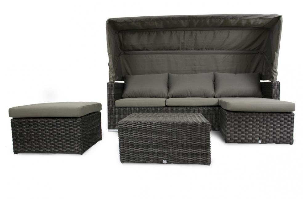 salon de jardin noir 5 places pi ce vivre. Black Bedroom Furniture Sets. Home Design Ideas