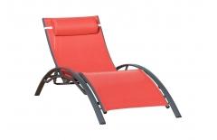 Chaise longue corail