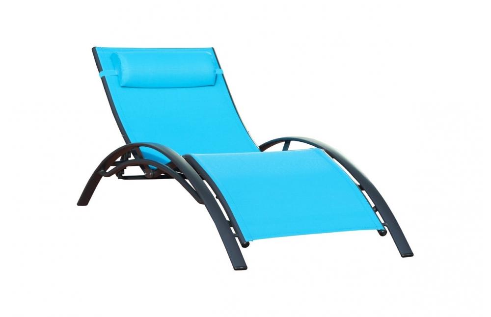chaise longue turquoise pi ce vivre. Black Bedroom Furniture Sets. Home Design Ideas