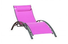 Chaise longue prune