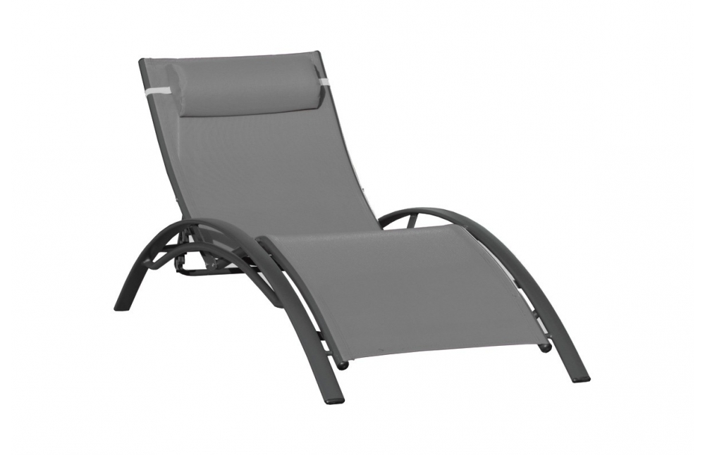 chaise longue grise pi ce vivre. Black Bedroom Furniture Sets. Home Design Ideas