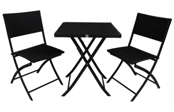 Ensemble table +2 chaises pliantes
