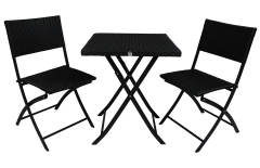 Ensemble table +2 chaises pliantes