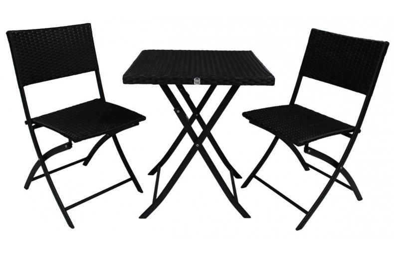 Ensemble table 2 chaises pliantes pi ce vivre - Table et chaises pliantes ...