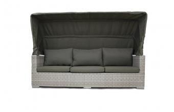 Canapé de jardin avec auvent rabattable