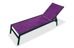 Chaise longue textilène prune