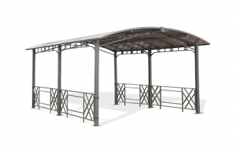 Pergola Carport rigide coloris gris