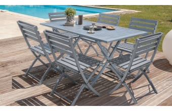Ensemble table pliante + 6 chaises