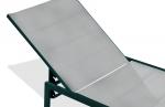 Chaise longue textilène gris