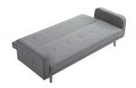 Canapé convertible scandinave en lin gris