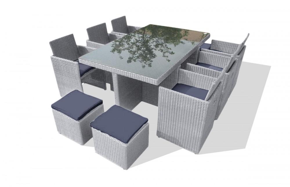 salon de jardin encastrable 10 places pi ce vivre. Black Bedroom Furniture Sets. Home Design Ideas