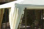 Pergola 4x3 m avec rideaux moustiquaire