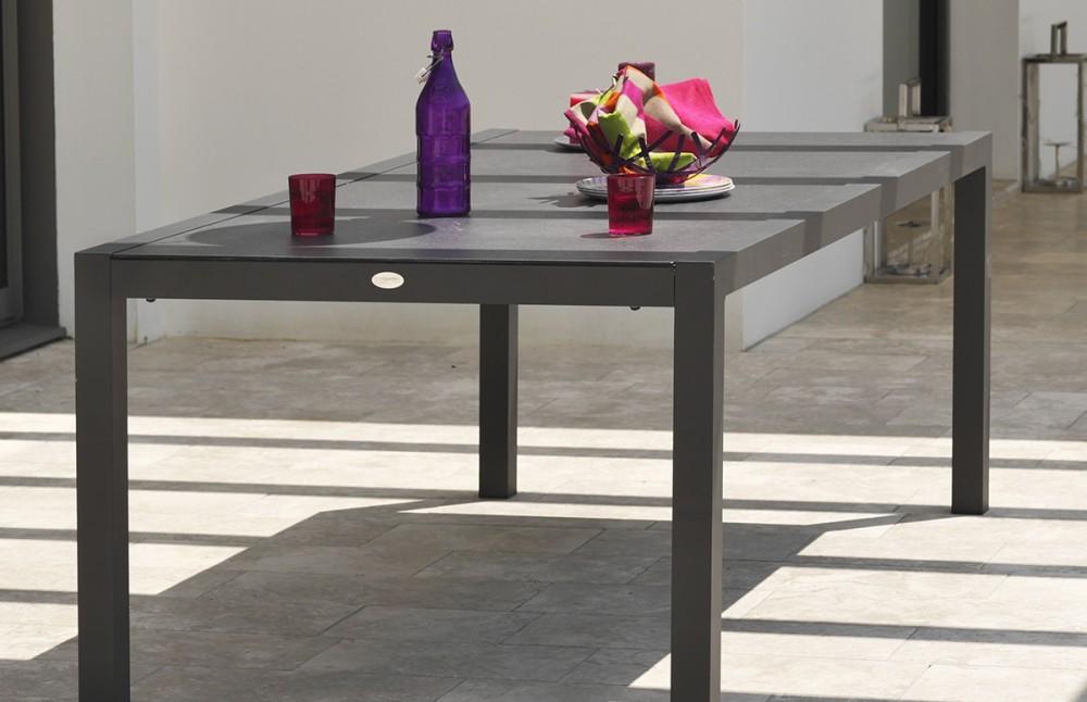 Ensemble Table Aluminium 6 Fauteuils Pi Ce Vivre