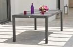 Table aluminium LONDON brun plateau duranite