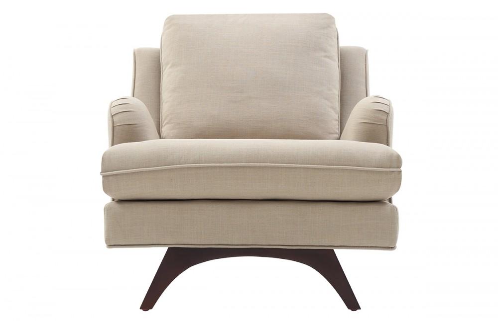 fauteuil scandinave tissu beige pi ce vivre. Black Bedroom Furniture Sets. Home Design Ideas