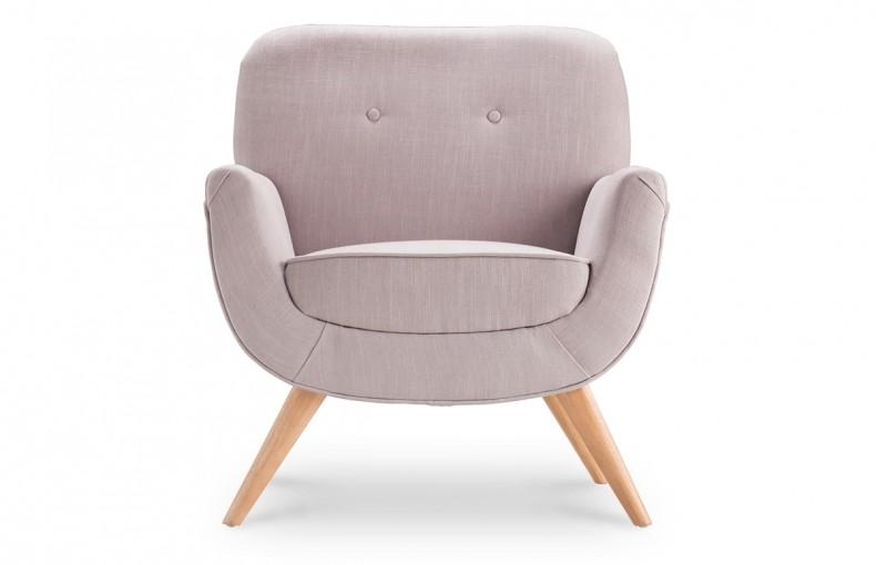 fauteuil vintage tissu parme pastel pi ce vivre. Black Bedroom Furniture Sets. Home Design Ideas