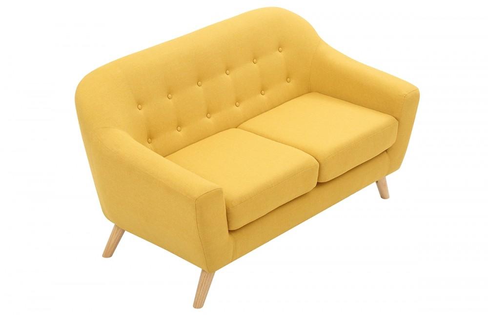 canap scandinave moutarde 2 places pi ce vivre. Black Bedroom Furniture Sets. Home Design Ideas