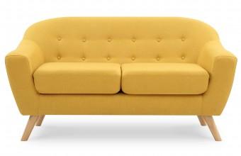 Canapé scandinave jaune moutarde