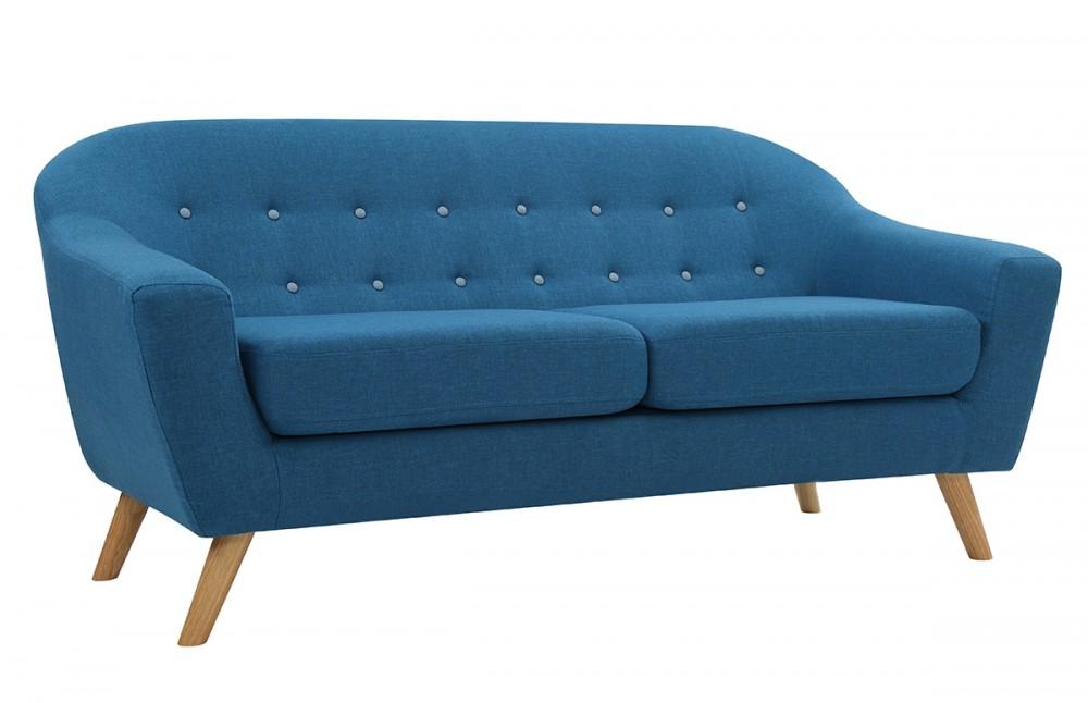 canap 3 places scandinave bleu pi ce vivre. Black Bedroom Furniture Sets. Home Design Ideas