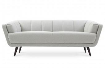 Canapé design tissu feutré gris clair