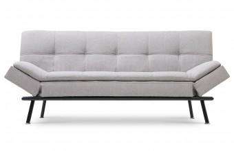 Canapé lit scandinave tissu gris