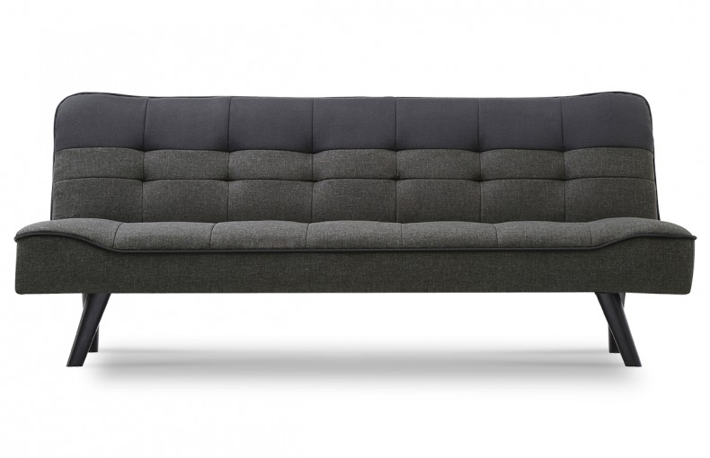 Canapé convertible design scandinave bicolore
