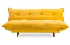 Banquette clic clac rembourrée scandinave jaune