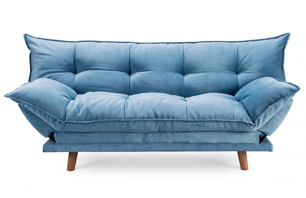 Beautiful canape bleu convertible contemporary for Canape clic clac conforama
