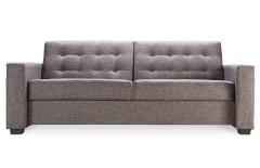 Canapé lit design tissu gris