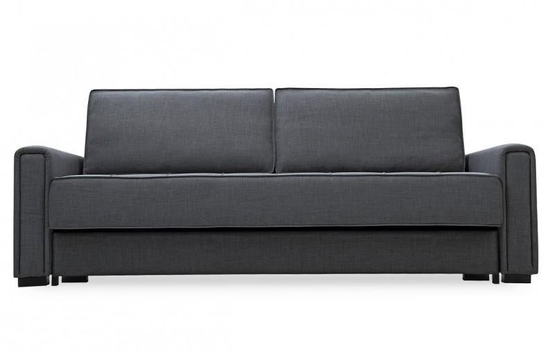 Canapé convertible noir design scandinave