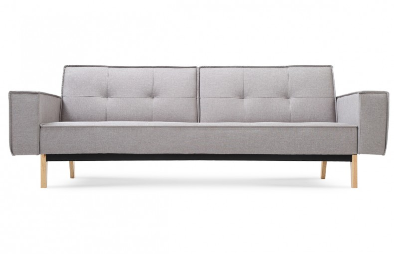Canape convertible design scandinave tissu gris piece a for Canapé convertible scandinave pour noël decoration magasin