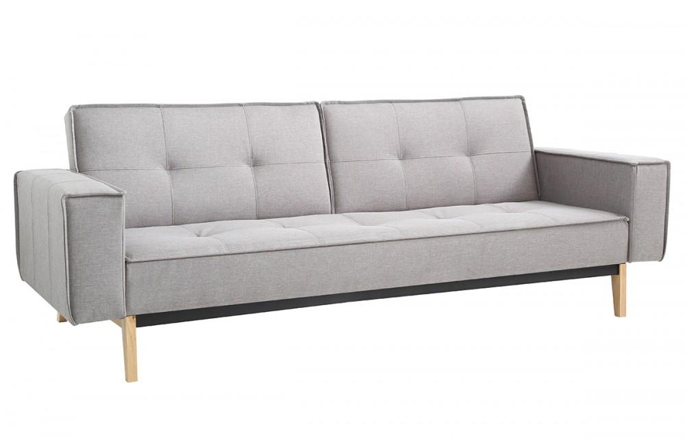 canap convertible design scandinave tissu gris pi ce. Black Bedroom Furniture Sets. Home Design Ideas