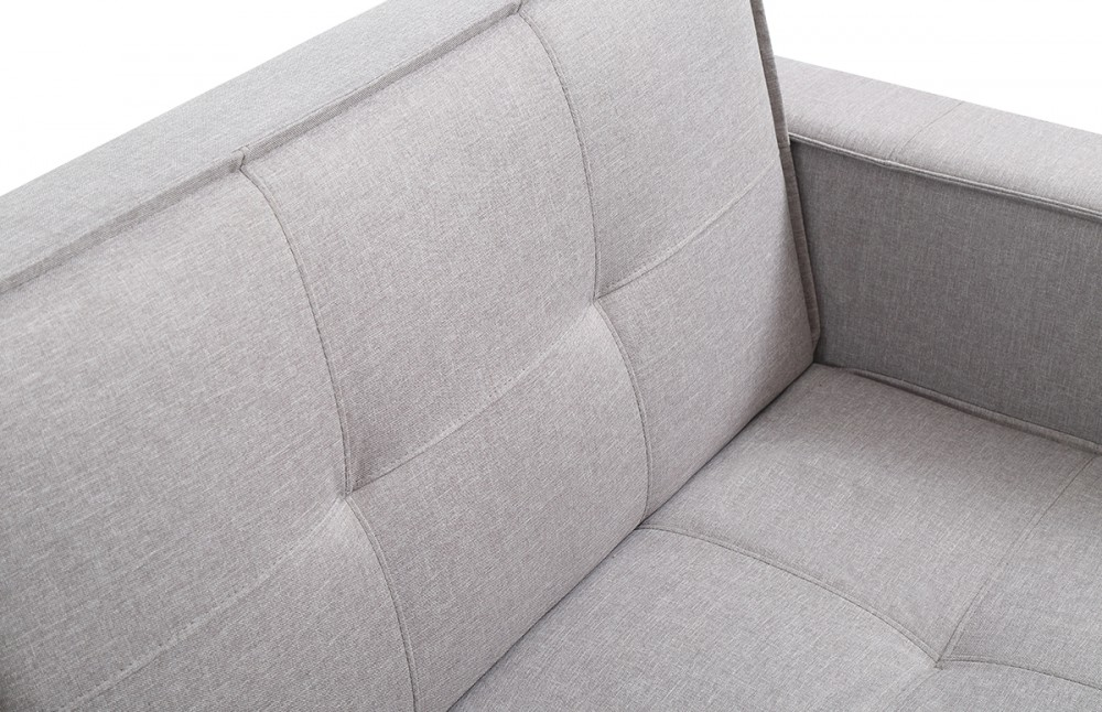 Canap convertible design scandinave tissu gris pi ce for Canape convertible tissu gris