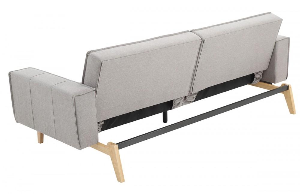 Canap convertible design scandinave tissu gris pi ce vivre - Canape convertible design ...