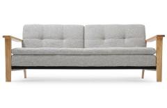 Canapé convertible au design scandinave gris