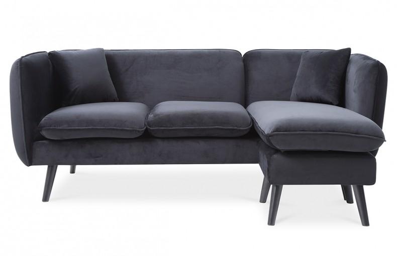 Canapé d'angle noir