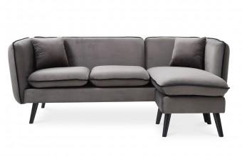 Canapé d'angle gris anthracite