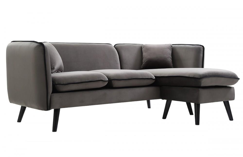 canap d 39 angle modulable scandinave en tissu gris pi ce vivre. Black Bedroom Furniture Sets. Home Design Ideas