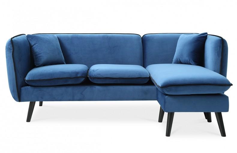 canap d 39 angle modulable tissu bleu style scandinave. Black Bedroom Furniture Sets. Home Design Ideas