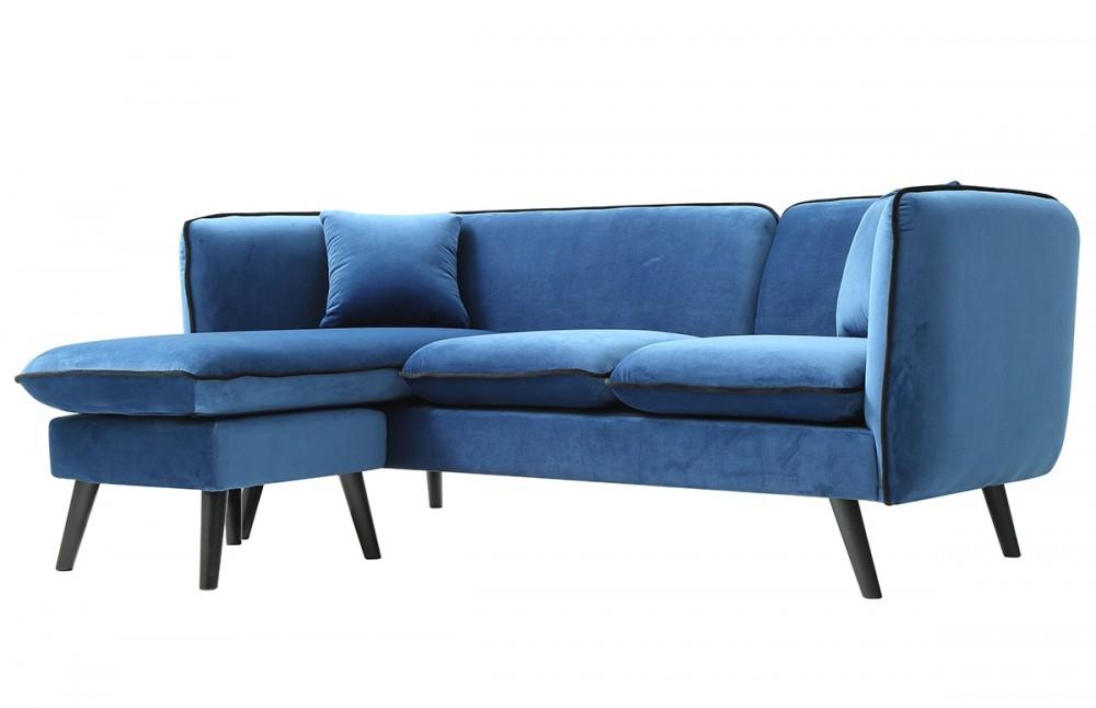 canap d 39 angle modulable tissu bleu style scandinave pi ce vivre. Black Bedroom Furniture Sets. Home Design Ideas
