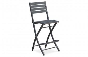 Chaise haute de bar en aluminium ANTHRACITE