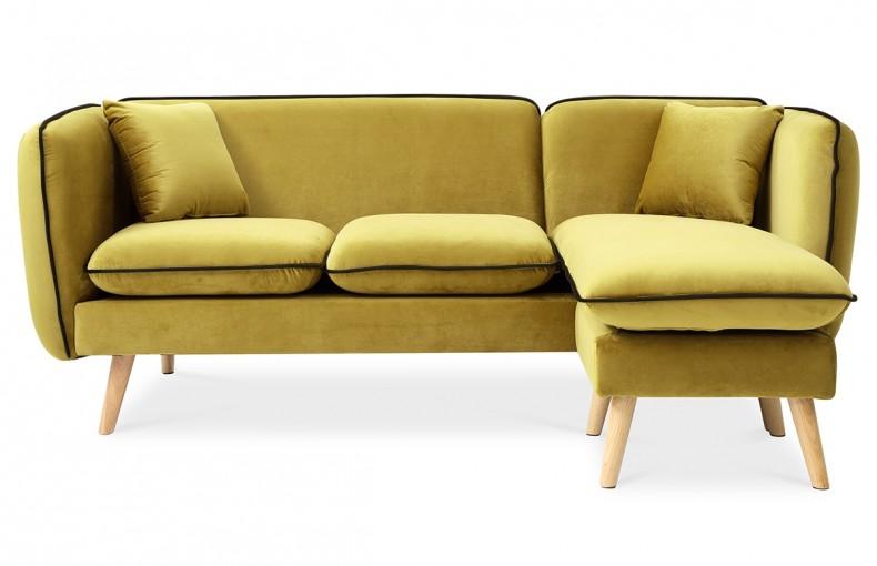 Canapé d'angle modulable moutarde