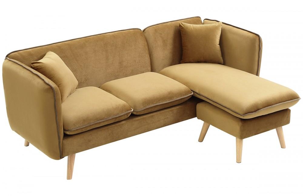 canap d 39 angle modulable tissu beige pi ce vivre. Black Bedroom Furniture Sets. Home Design Ideas