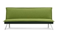 Banquette clic-clac design vert citrus pieds chromés marque REMARQUABLE