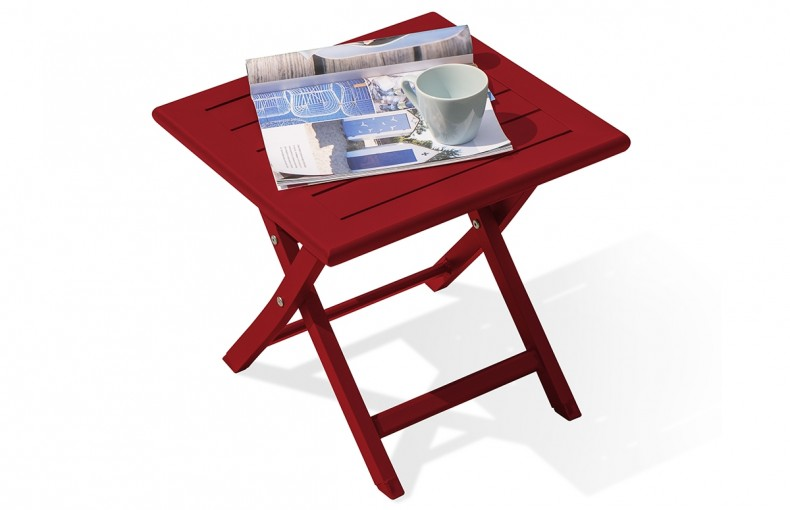 Table basse pliante en aluminium ROUGE